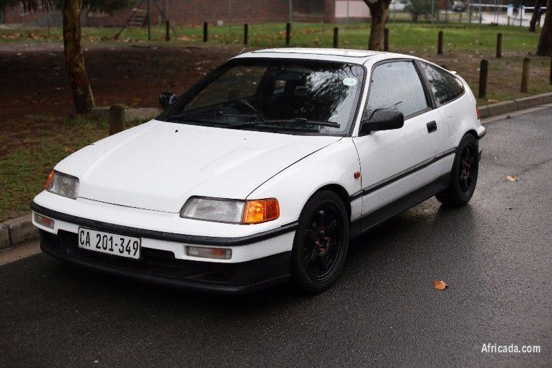 1991 Honda Crx White