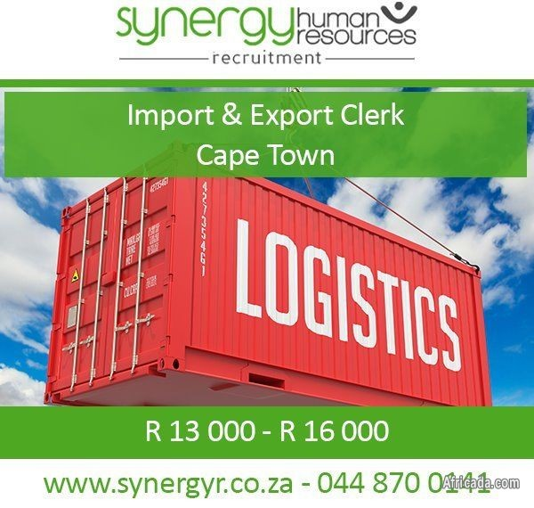 Imports and Exports Clerk - Northern Suburbs